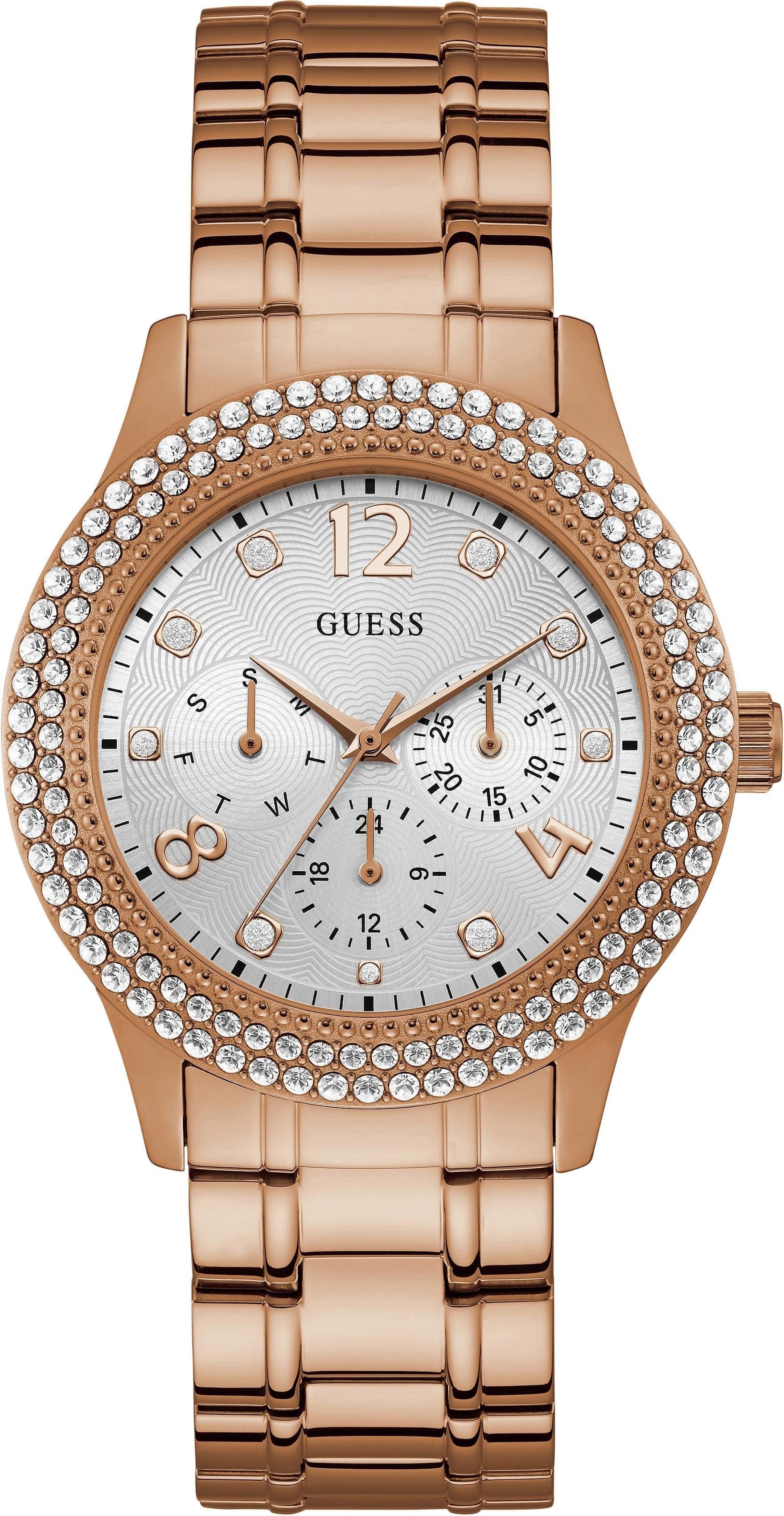 Guess Multifunktionsuhr »BEDAZZLE, W1097L3«