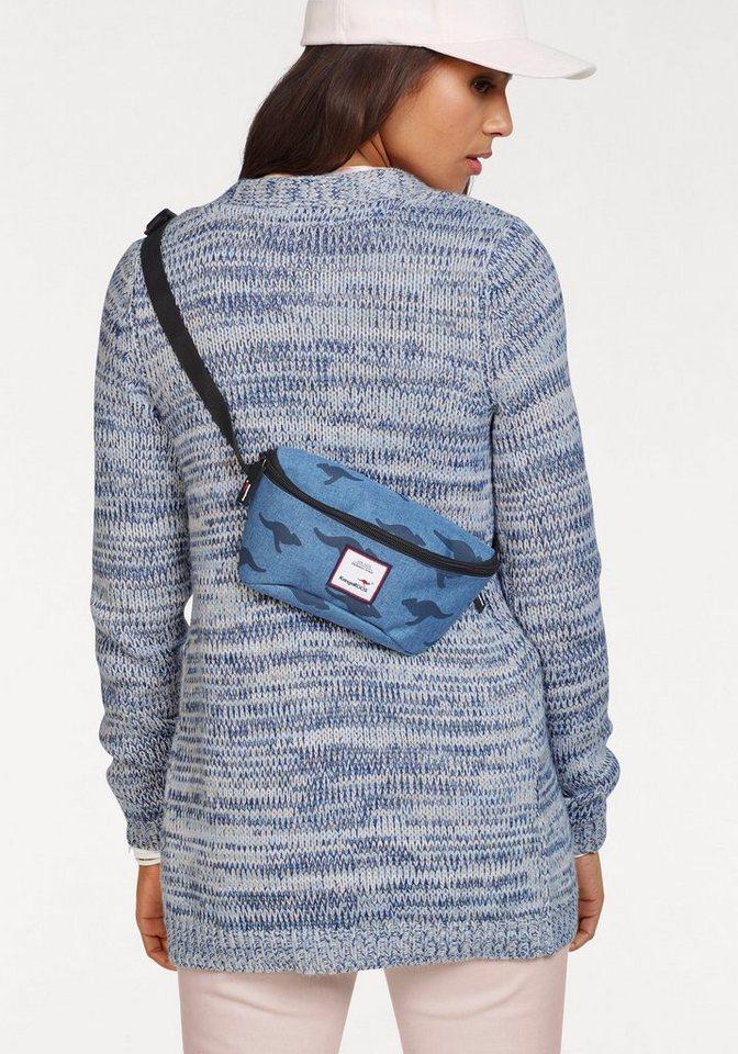 Damen KangaROOS Strickjacke, in Steifen Optik mit besonderen Multicolor-Garn blau | 08941101561026