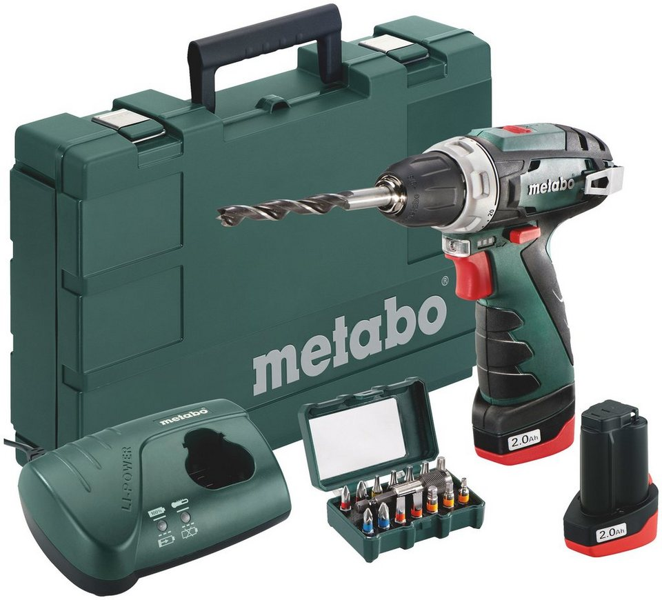 metabo akkuschrauber powermaxx bs 15tlg box mit akku ladeger t und koffer online kaufen otto. Black Bedroom Furniture Sets. Home Design Ideas