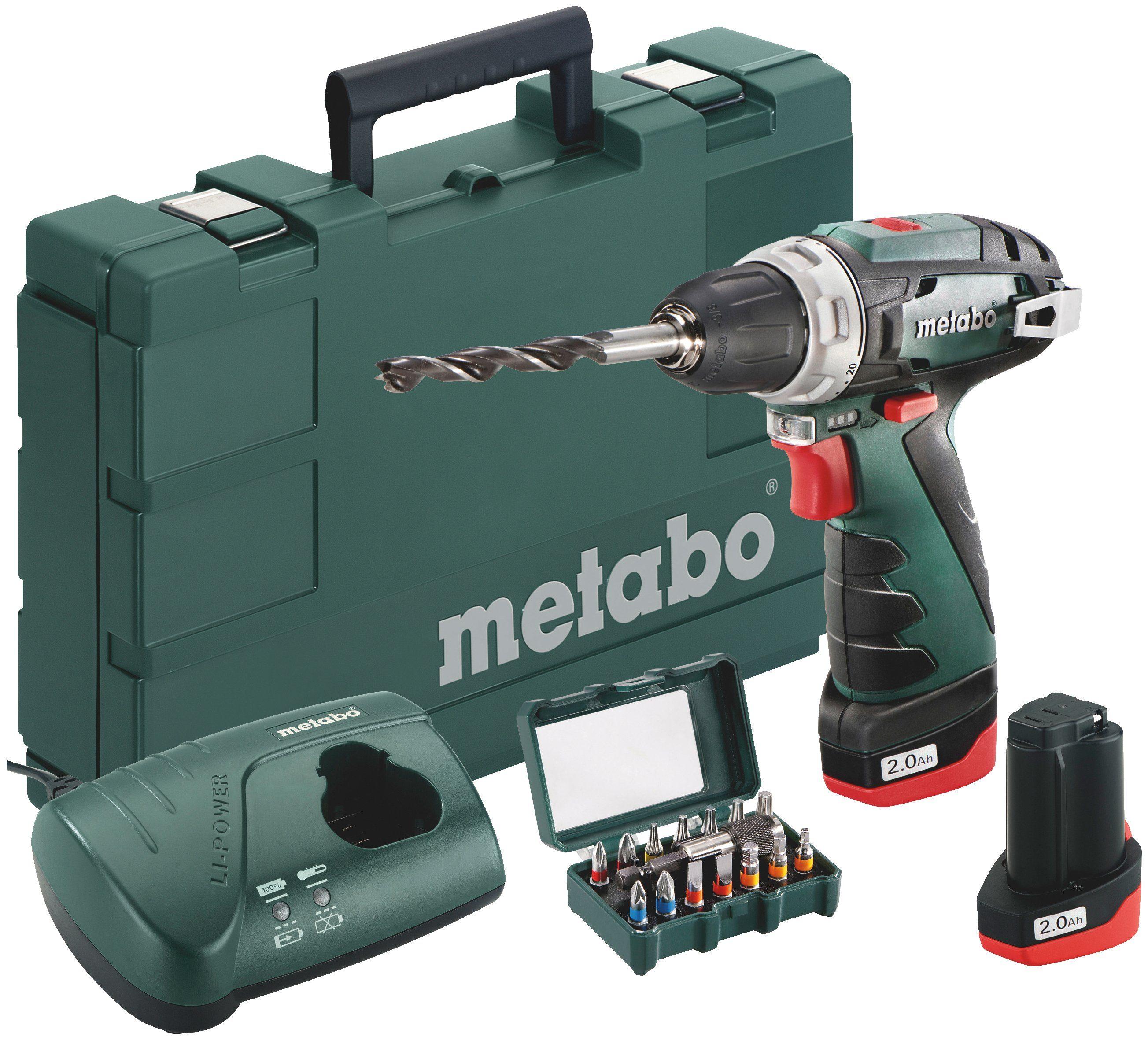 METABO Akkuschrauber »PowerMaxx BS «, 15tlg.Box, mit Akku, Ladegerät und Koffer