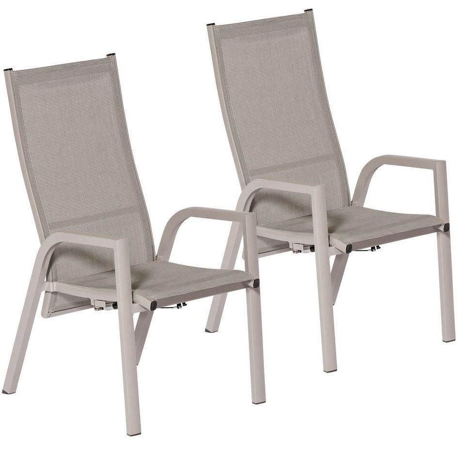 Merxx gartenstuhl san remo 2er set alu textil verstellbar hellgrau online kaufen otto - Merxx gartenstuhl ...