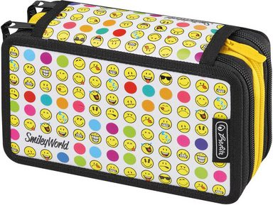 Herlitz Federmäppchen »Triple Decker, Smiley World Rainbow Faces«, (Set)