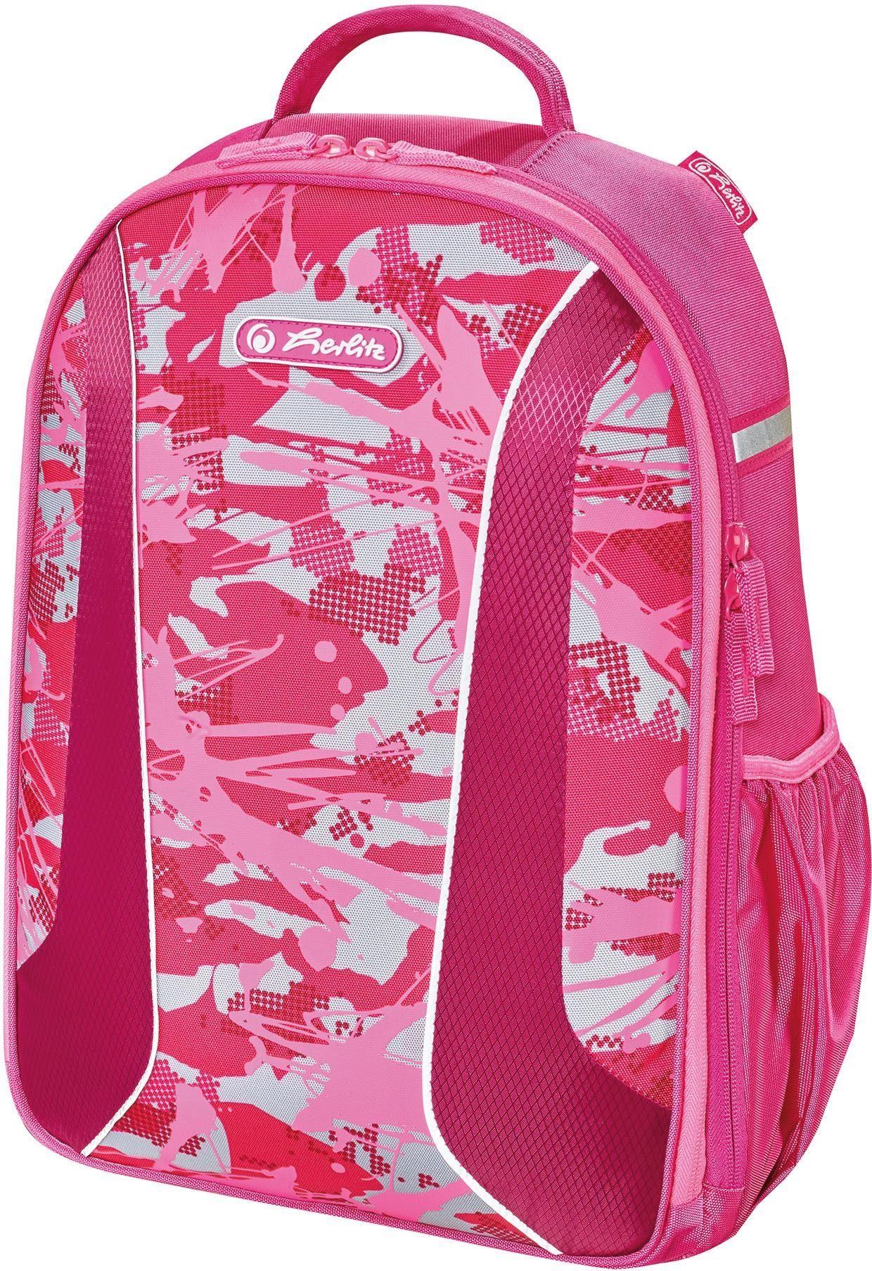 Herlitz Schulrucksack, »airgo, Camouflage Pink«