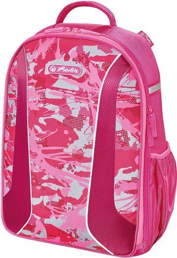 Herlitz Schulrucksack »airgo, Camouflage Pink«