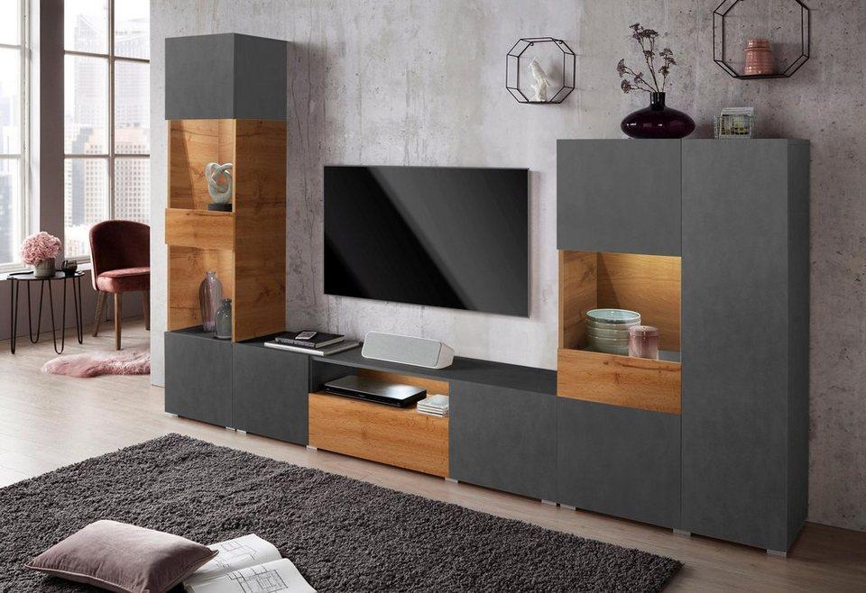 wohnwand rossi 3 tlg mit highboard kaufen otto. Black Bedroom Furniture Sets. Home Design Ideas