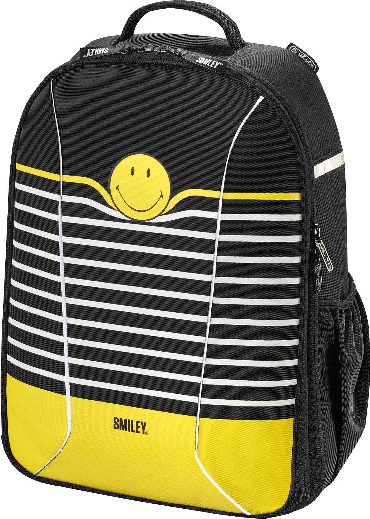 Herlitz Schulrucksack, »airgo, Smiley B&Y Stripes«