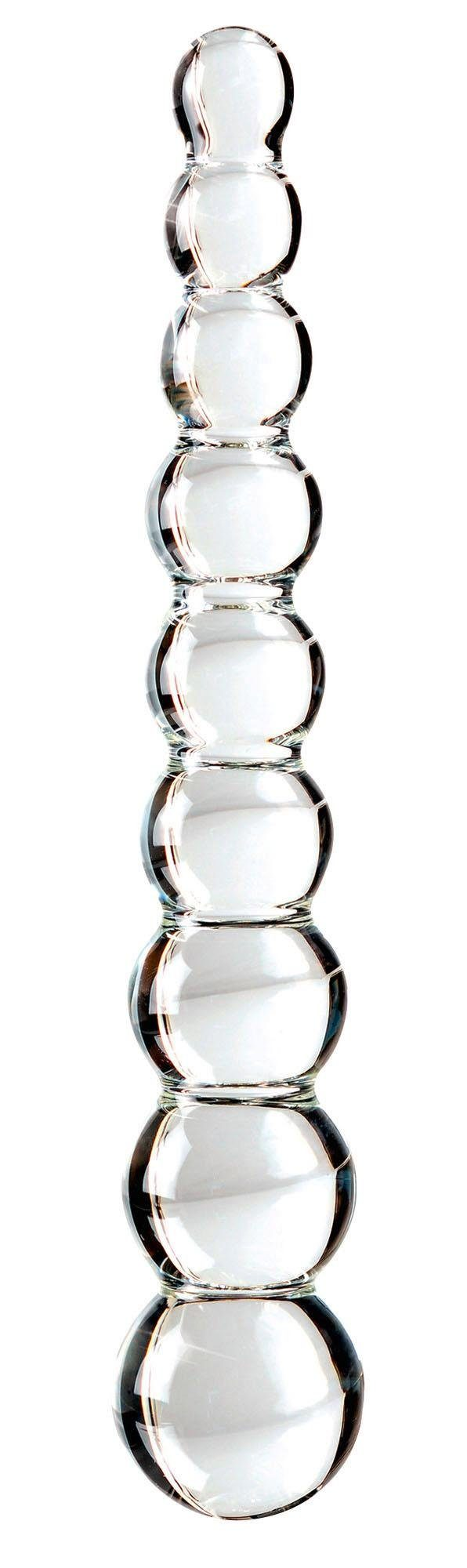Icicles Glasdildo Icicles No. 2, Glas-Dildo mit 9 unterschiedlich großen Reizkugeln