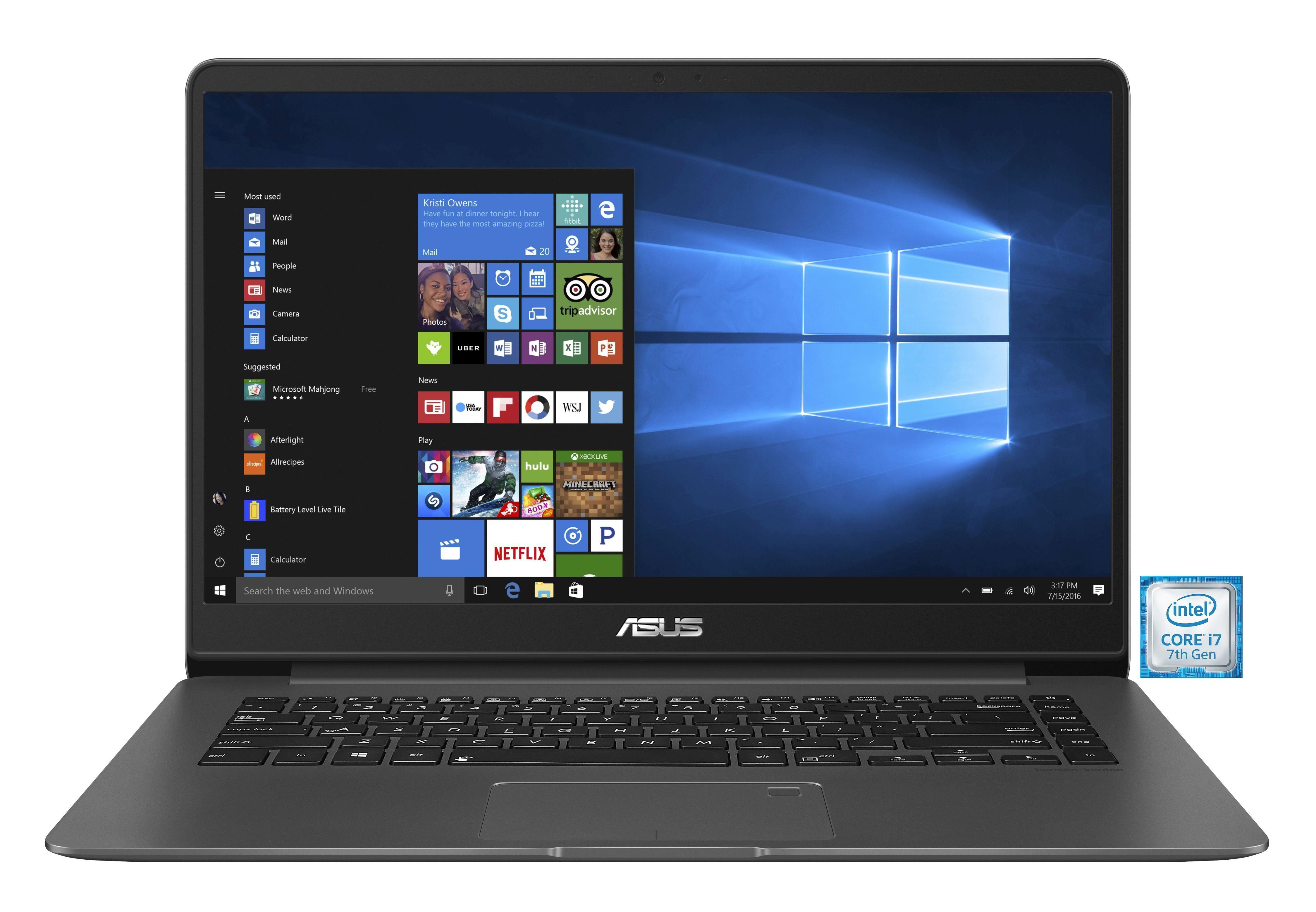 """ASUS ZenBook UX530UX-FY064T Notebook »Intel Core i7, 39,62 cm(15,6"""")512 GB SSD, 8 GB«"""