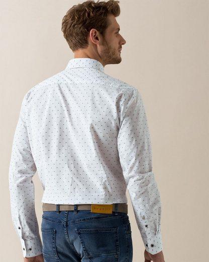 Bugatti Long-sleeved Shirt With A Button-down Collar