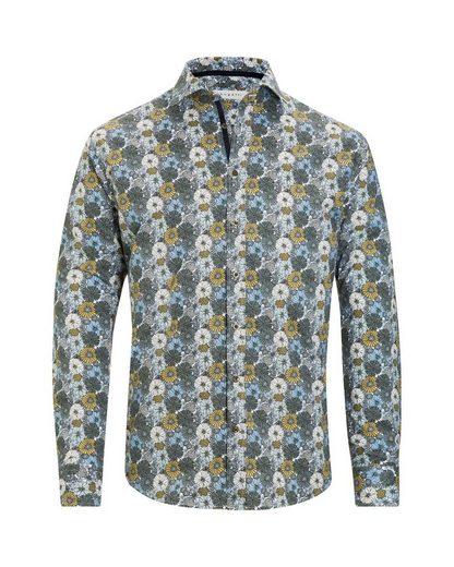 Bugatti Langarmhemd, mit einem großen floralen Muster
