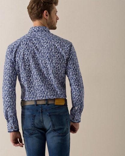 Bugatti Langarmhemd, mit einem floralen Muster