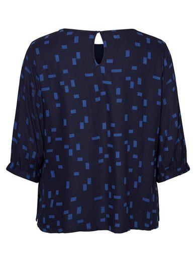 JUNAROSE Bedruckte Viskose- Bluse mit 3/4 Ärmeln
