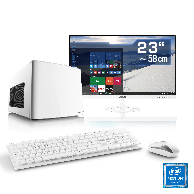 CSL Mini-ITX PC Set | Pentium G4560 | HD 610 | 8 GB DDR4 | SSD »Multimedia Box T1872 Windows 10«