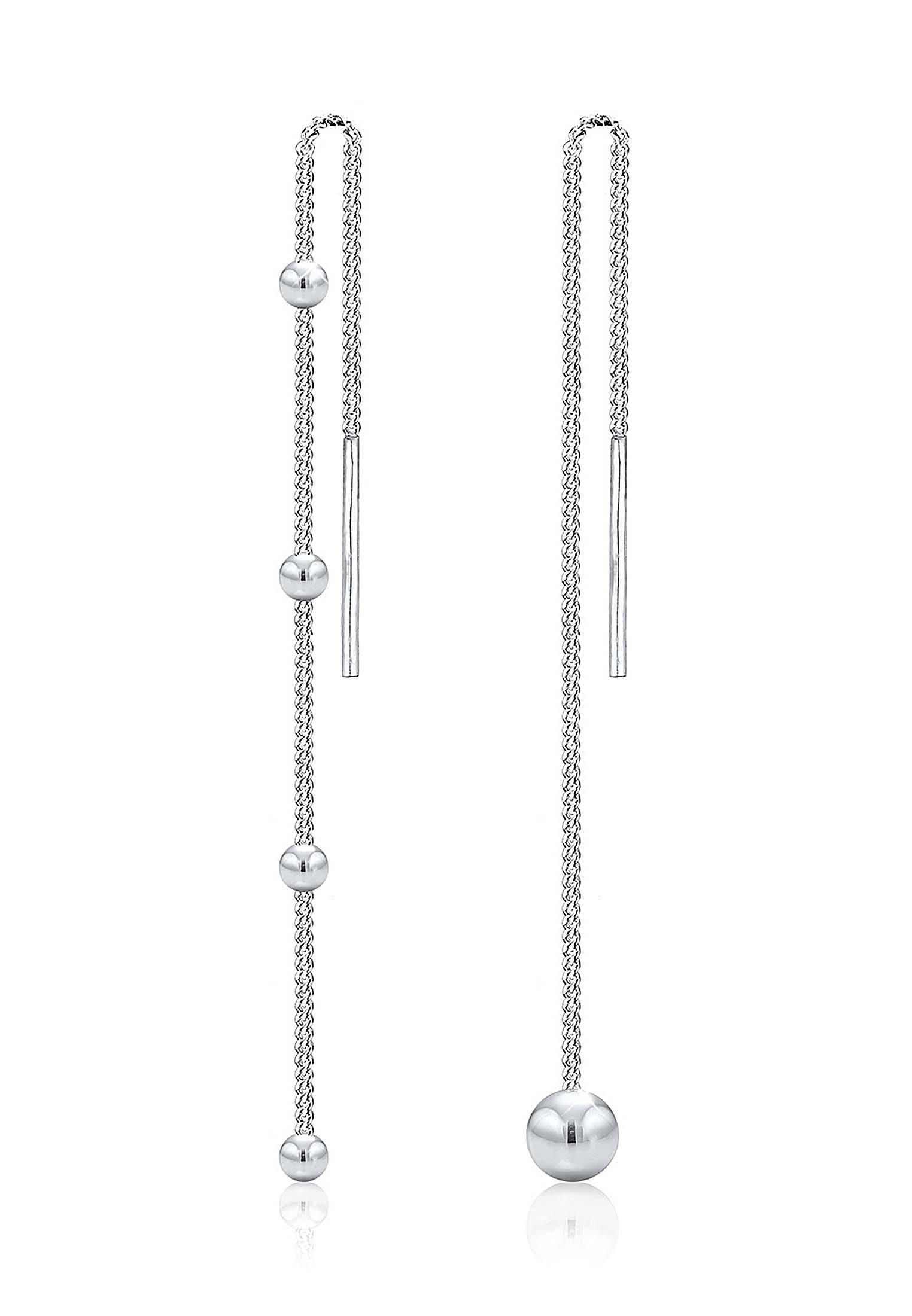 Elli Ohrringe »Ohrhänger Geo Kugel Asymmetrisch Ball 925 Silber«
