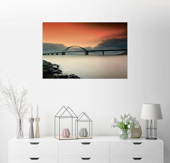 Posterlounge Wandbild - PhotoArt Hartmann »Fehmarnsundbrücke IV«