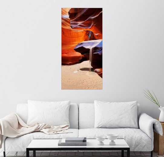 Posterlounge Wandbild - Michael Rucker »The Corkscrew im Upper Antelope Canyon«