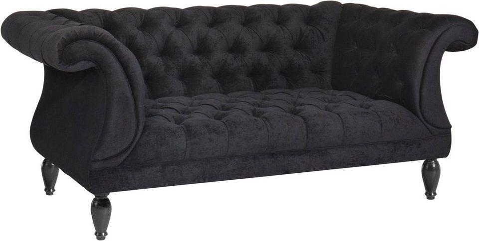 max winzer chesterfield 2 sitzer sofa isabelle mit edler knopfheftung breite 200 cm online. Black Bedroom Furniture Sets. Home Design Ideas