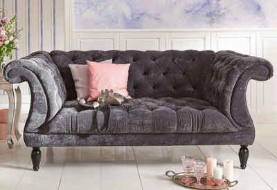 Max Winzer® Chesterfield-Sofa »Isabelle«, mit edler Knopfheftung, Breite 200 cm