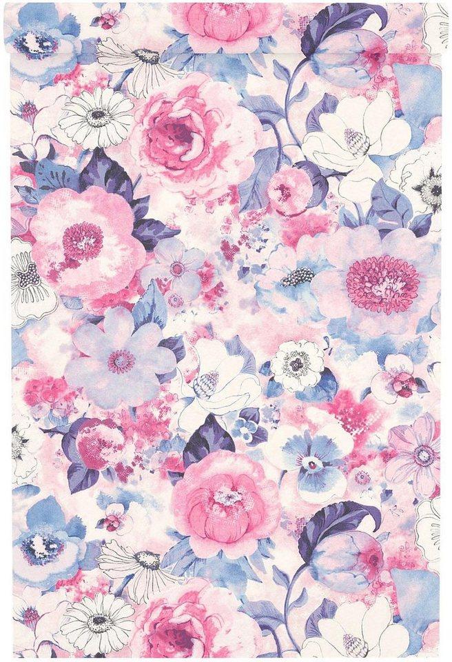 vliestapete lucy in the sky happy flower motiv fsc. Black Bedroom Furniture Sets. Home Design Ideas
