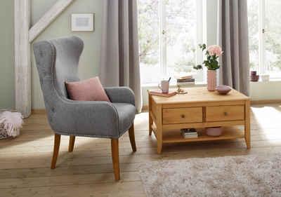 Home affaire Ohrensessel »Shabelle«, in zwei verschiedenen Farben und toller Holzoptik, Sitzhöhe 47 cm