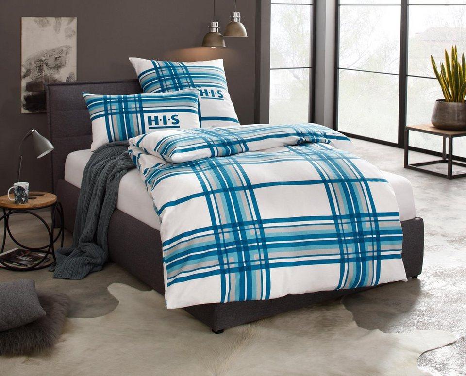 bettw sche denva h i s mit gro em karomuster otto. Black Bedroom Furniture Sets. Home Design Ideas