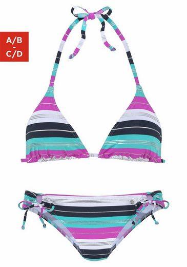 s.Oliver Beachwear Triangel-Bikini mit seitlichen Bindebändern