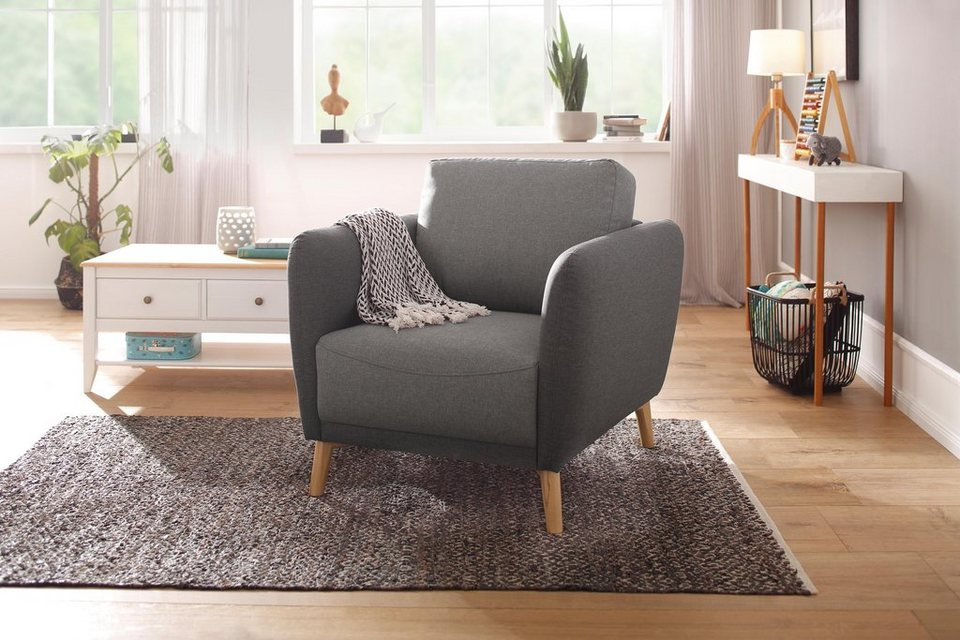 home affaire sessel ida mit holzf en und armlehnen. Black Bedroom Furniture Sets. Home Design Ideas