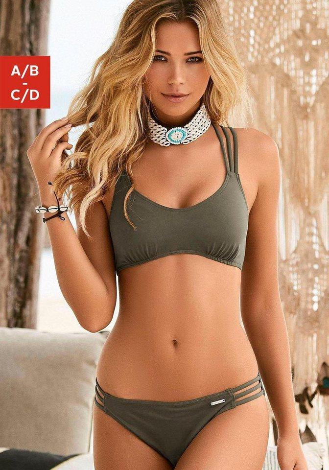 Bademode - Bruno Banani Bustier Bikini mit Zierbändern › grün  - Onlineshop OTTO