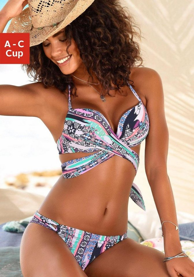 Bademode - s.Oliver Beachwear Push Up Bikini mit Wickeloptik ›  - Onlineshop OTTO