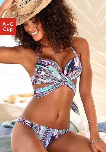 s.Oliver Beachwear Push-Up-Bikini mit Wickeloptik