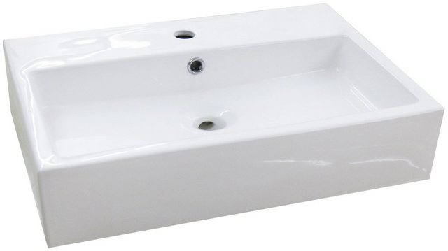 Waschtische - Aufsatzbecken »Verona«, Waschbecken, eckig, Breite 60cm, Tiefe 42cm  - Onlineshop OTTO