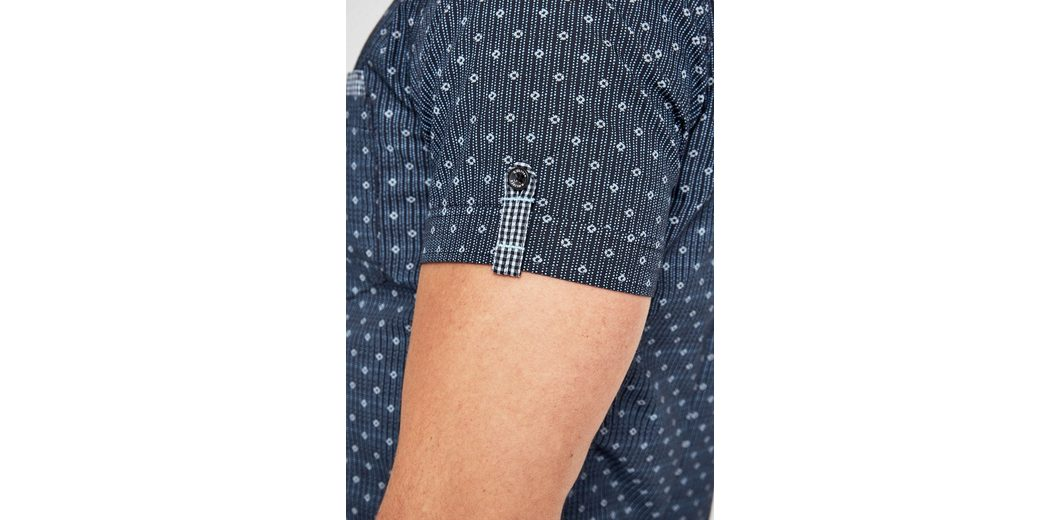 s.Oliver RED LABEL Slim: Hemd mit Minimalmuster Billige Finish Y8Oj5E