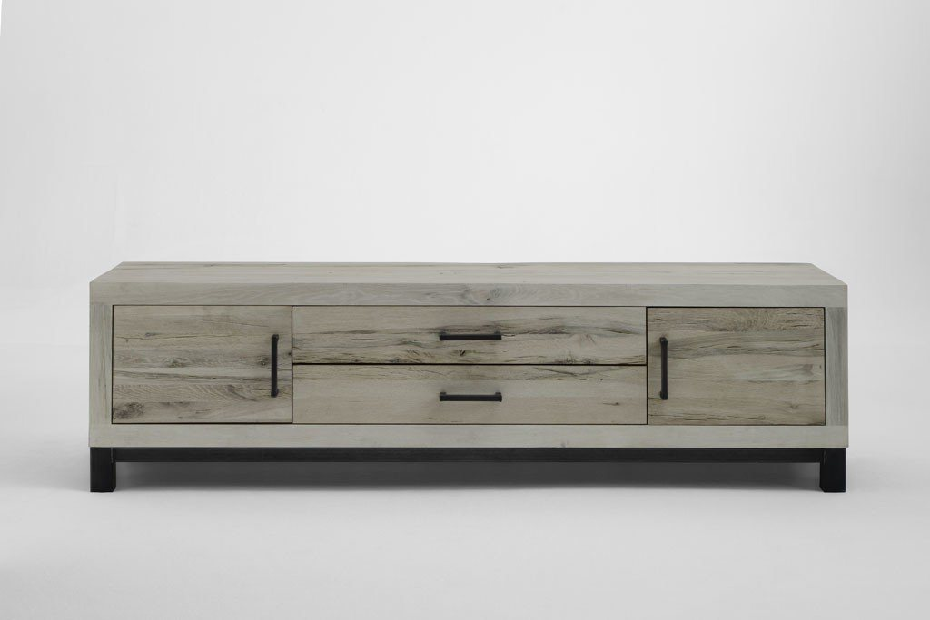 Kasper-Wohndesign  TV-Board Massivholz Eiche sand NELA braun | 04250385968518