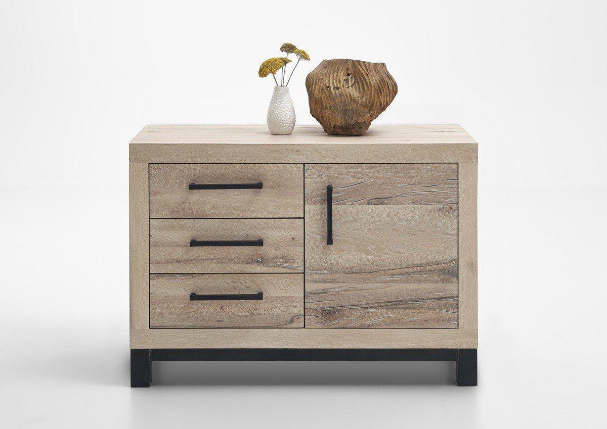 Kasper-Wohndesign  Kommode Massivholz Eiche sand NELA braun | 04250385968556