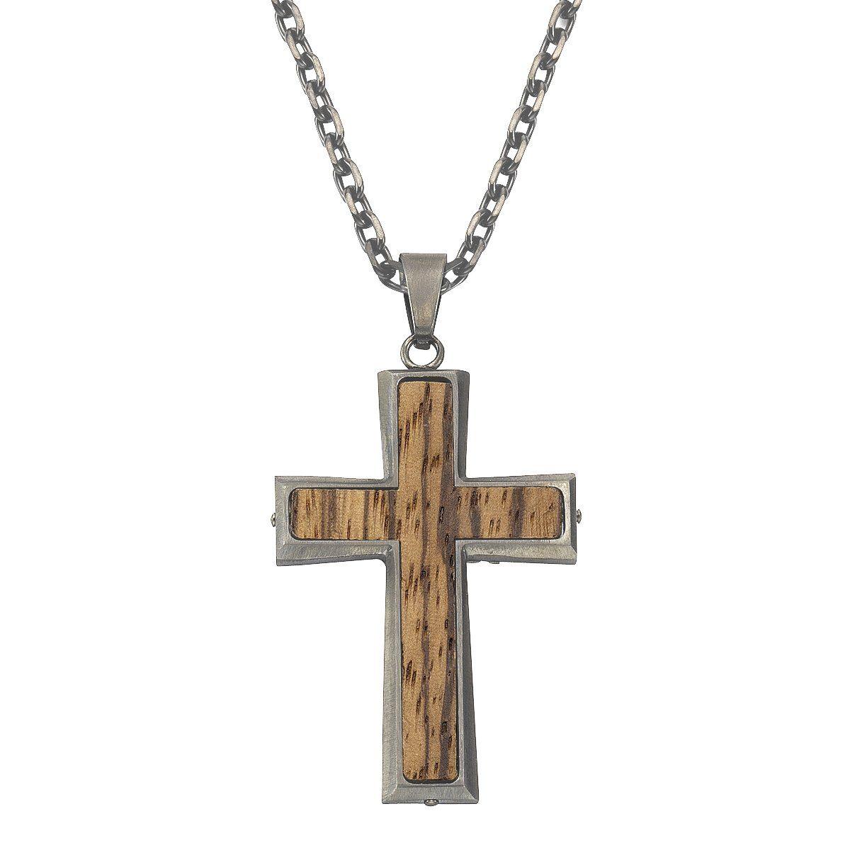 Zeeme Anhänger mit Kette »Edelstahl Kreuz«