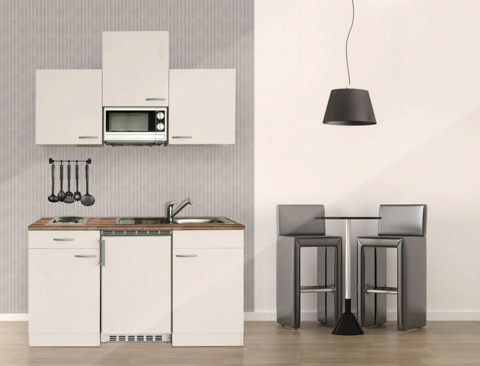 RESPEKTA Küchenzeile Mit E Geräten »Single Küche«, Gesamtbreite 150 Cm