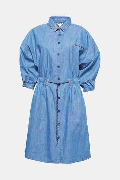 ESPRIT Tailliertes Jeanskleid aus Baumwolle