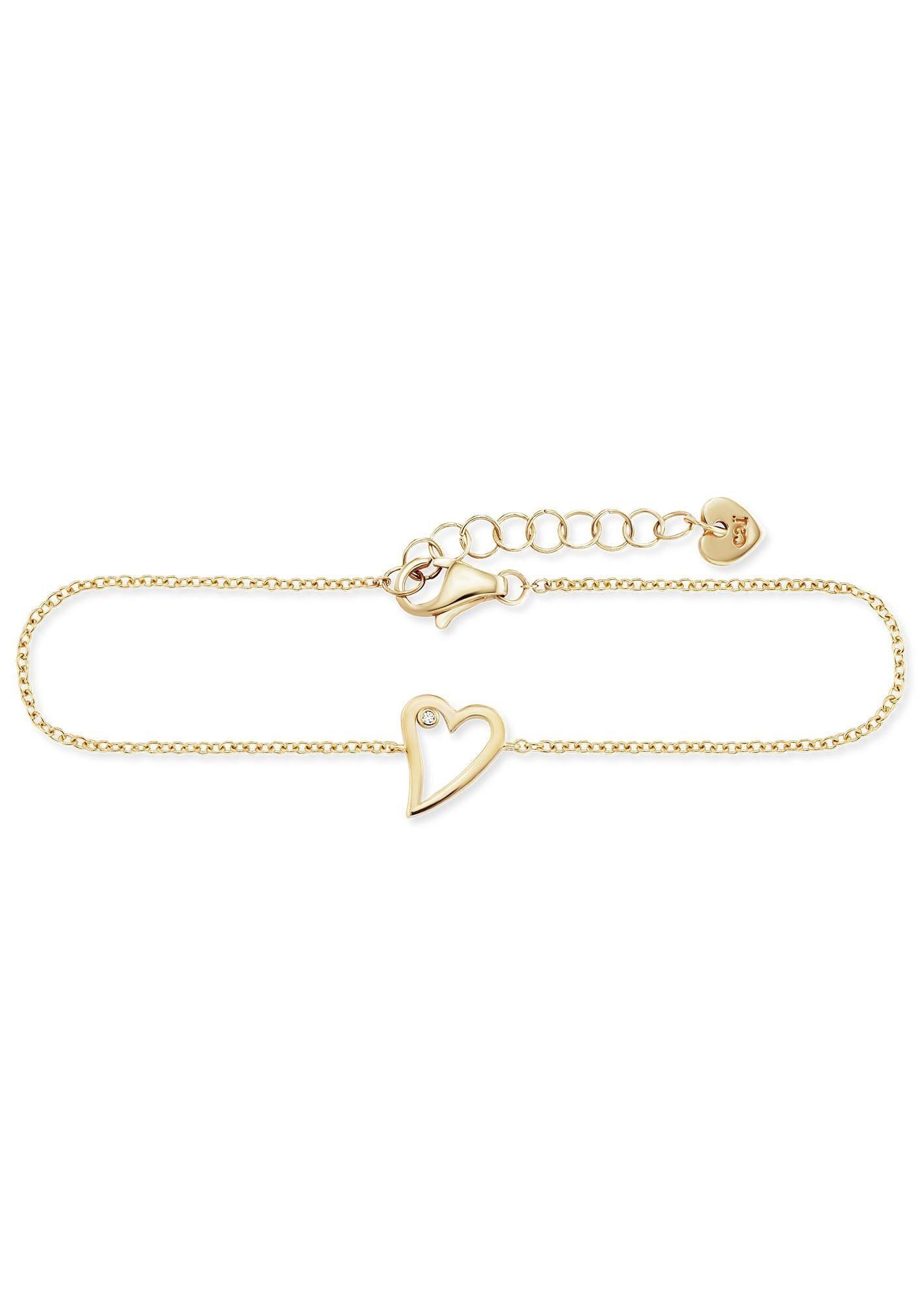 CAÏ Armband »caï love,Herz, swingin heart, C7379B/90/03/19« mit Zirkonia