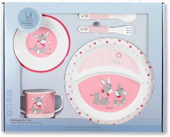 Sterntaler® Kindergeschirr-Set »Emmi Girl« (5-tlg), Polypropylen, mit Löffel und Gabel