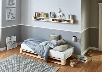 Schön Atlantic Home Collection Palettenbett Aus Massiver Fichte, Wahlweise Mit  Matratze