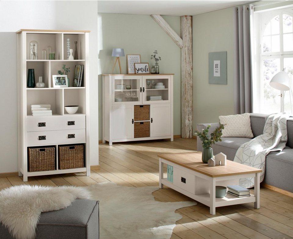home affaire couchtisch georgina mit 1 schublade und 2 k rben breite 120 cm online kaufen otto. Black Bedroom Furniture Sets. Home Design Ideas