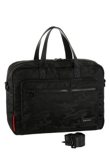 Diesel Messenger Bag Discover Briefcase, mit gepolstertem Laptopfach und Reißverschluss-Vortasche