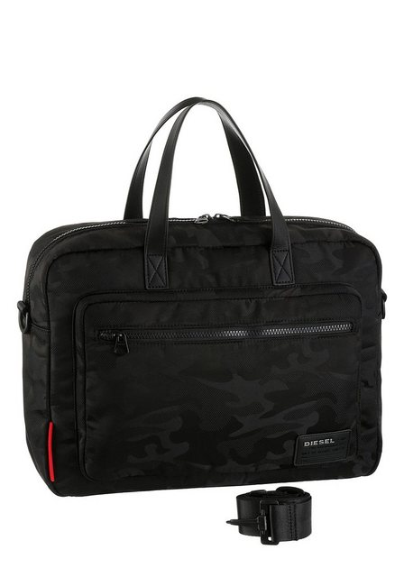 Diesel Messenger Bag »Discover Briefcase«, mit gepolstertem Laptopfach und Reißverschluss-Vortasche | Taschen > Business Taschen > Messenger Bags | Schwarz | Diesel