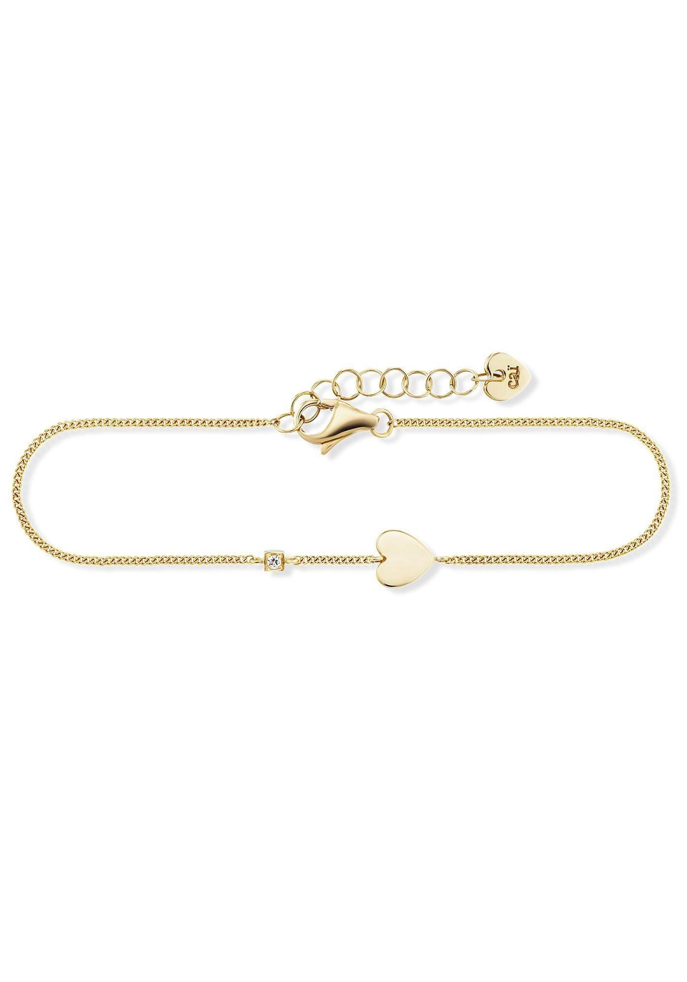 CAÏ Armband »caï love, Herz, square heart, C7387B/90/03/19« mit Zirkonia