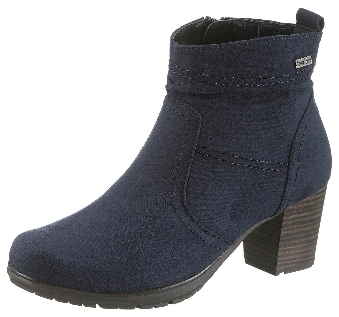Damen Jana Winterstiefelette mit Jana-Tex und komfortabler Schuhweite G blau  Damen Stiefeletten