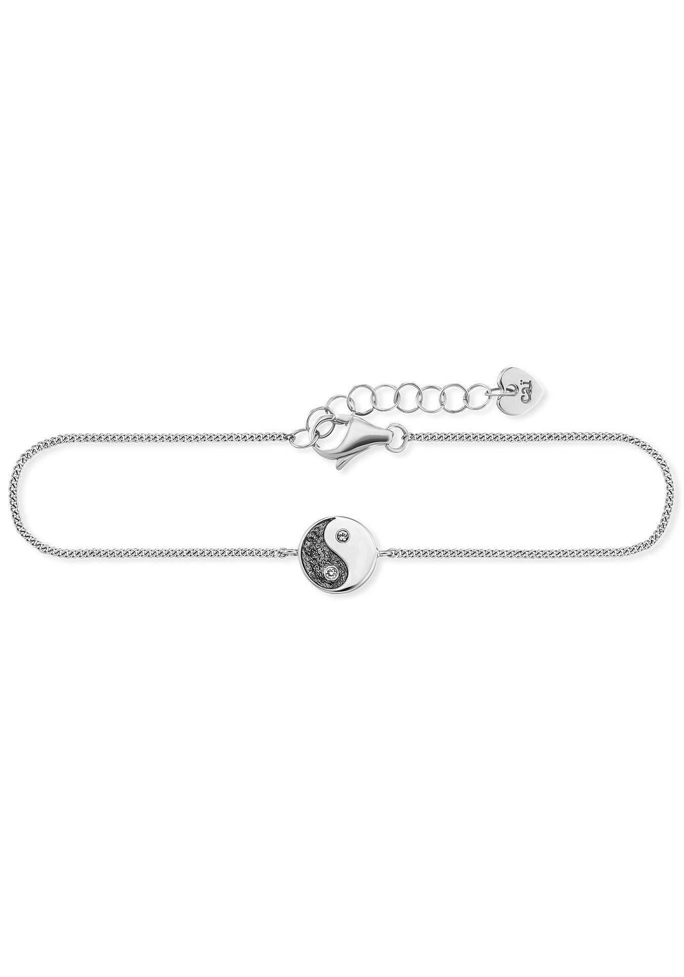 CAÏ Silberarmband »caï love, Ying Yang, C7402B/90/CG/19« mit Zirkonia
