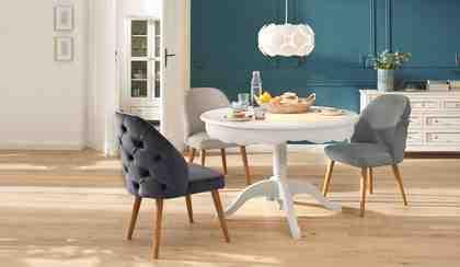 Home affaire Esszimmerstuhl »Desna« in drei verschiedenen Farben und toller Holzoptik, Sitzhöhe 46 cm