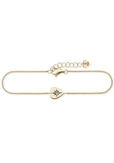 CAÏ Armband »caï love, Herz, star cut, C7394B/90/03/19«, mit Zirkonia