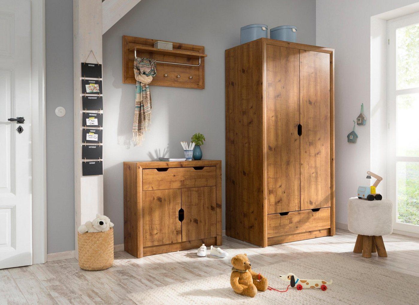 Flurschränke und Regale - Home Affaire Garderobenschrank »Brisbane«, mit 2 Türen und einen sehr schönen Schrägrahmen in Gärung, Höhe 180 cm  - Onlineshop OTTO