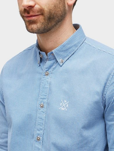 Tom Tailor Shirt Striped Shirt With Embroidery